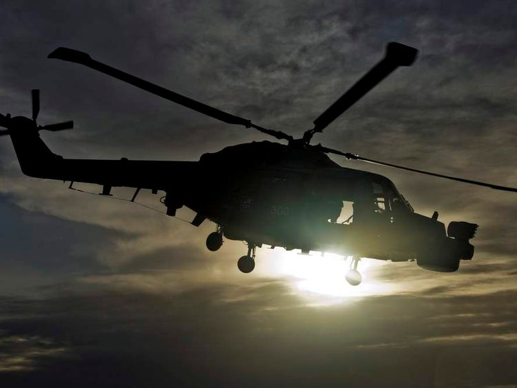 Royal Navy Lynx Helicopter