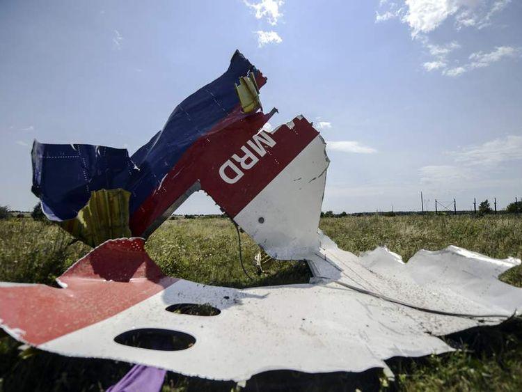 MH17 plane fuselage