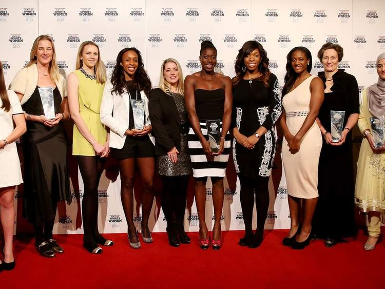 The winners at The Sunday Times and Sky Sports Sportswomen Of The Year Awards