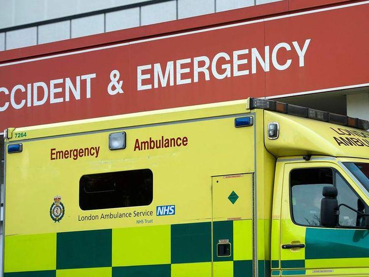 Ambulance Outside London A&E Department