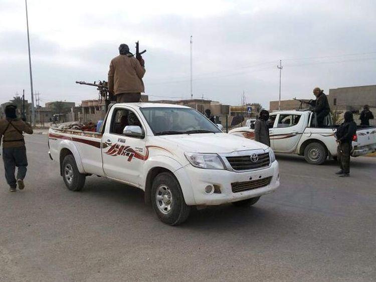 Armed men in Ramadi, Iraq