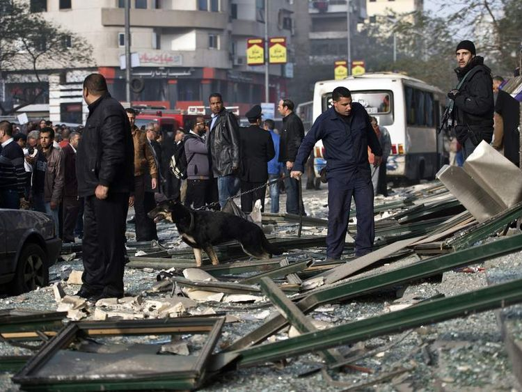 The bomb in Cairo caused little damage and no injuries, according to reports.