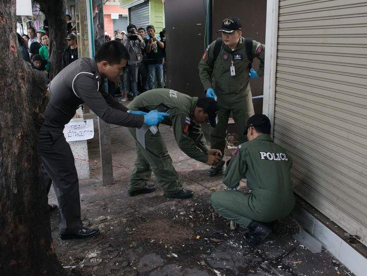 Thai bomb squad at site of blast in Bangkok