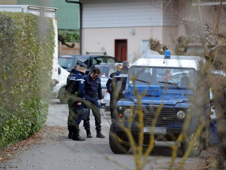 Alps Murders Police Search Suspect's House