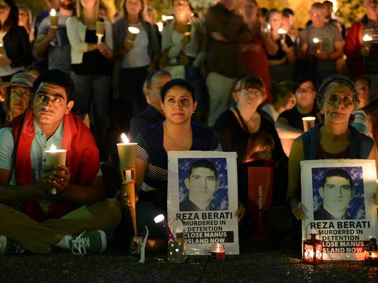 Candlelight vigil in Sydney in support of asylum seekers