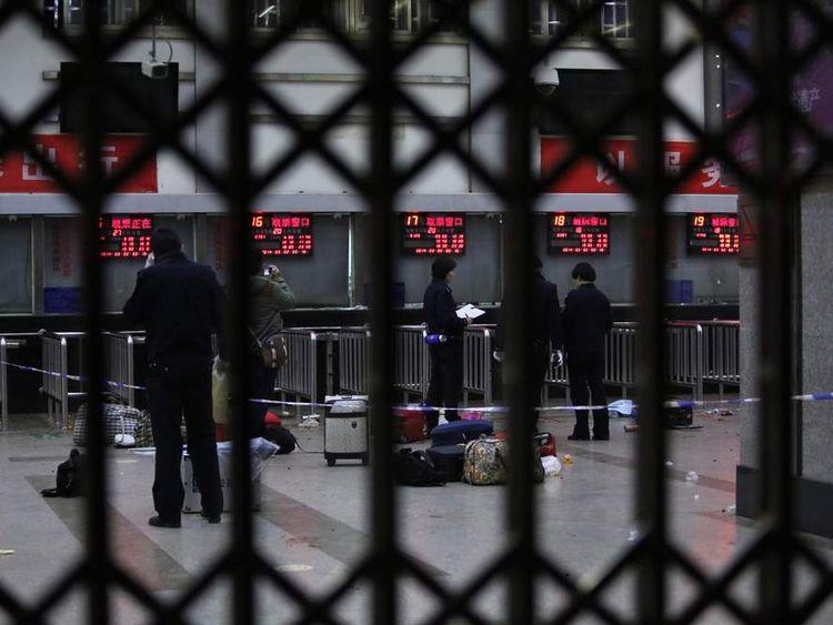 Knife attack at China train station