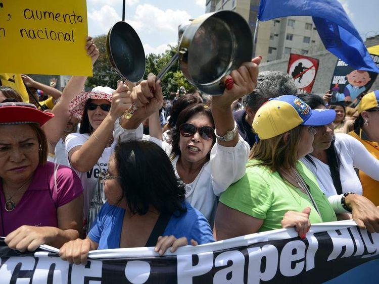 Venezuela empty pots protest