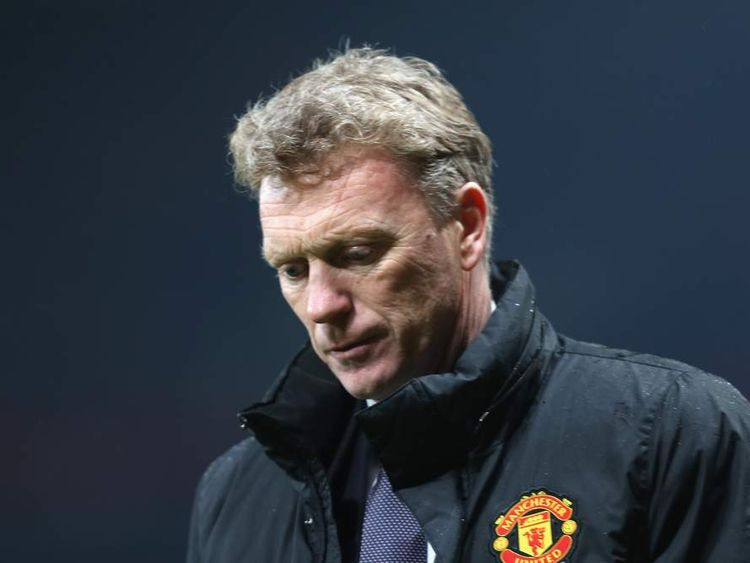 David Moyes during Manchester United's 3-0 defeat to Manchester City at Old Trafford.