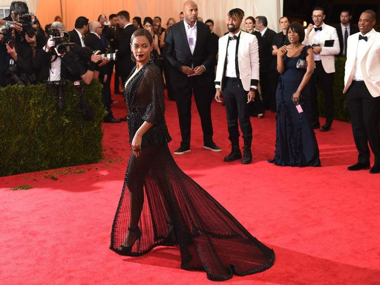 Beyonce arrives at the Costume Institute Benefit at The Metropolitan Museum of Art May 5, 2014 in New York.