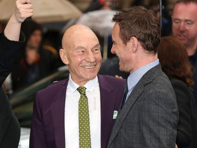 Patrick Stewart and Michael Fassbender