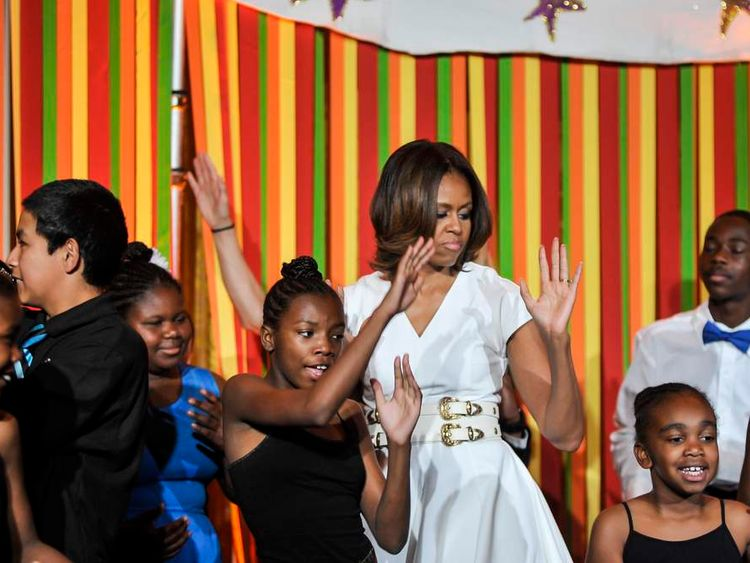 White House Talent Show featuring Michelle Obama, SJP Making Turnaround Arts Announcement.