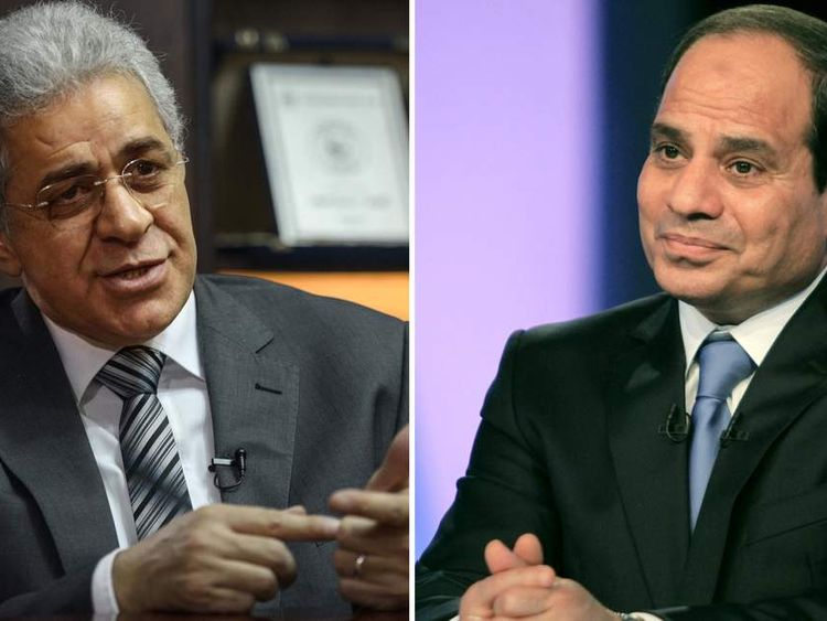 Egyptians vote for new president al Sisi Sabahi