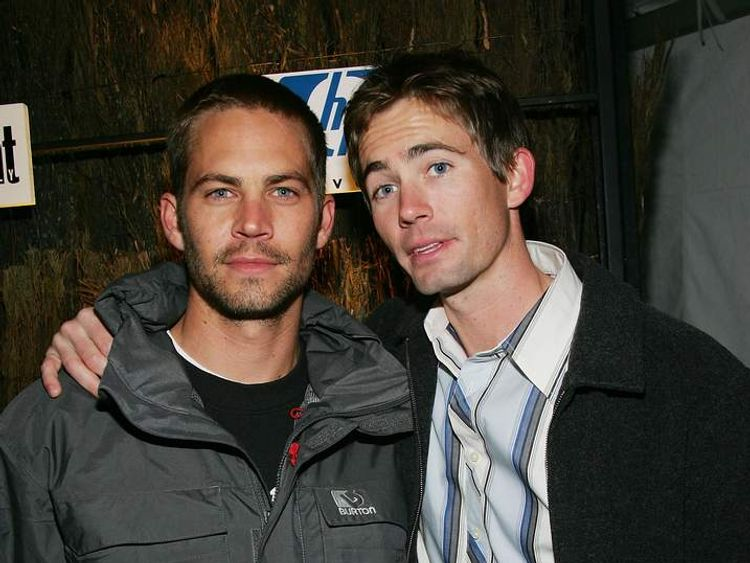 Paul Walker (left) with brother Caleb in 2005.