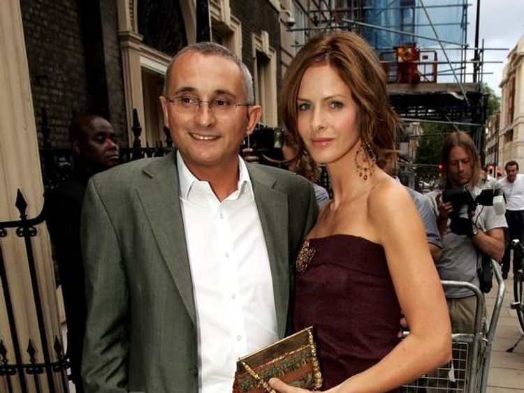 Trinny Woodhall and then-husband Jonny Elichaoff