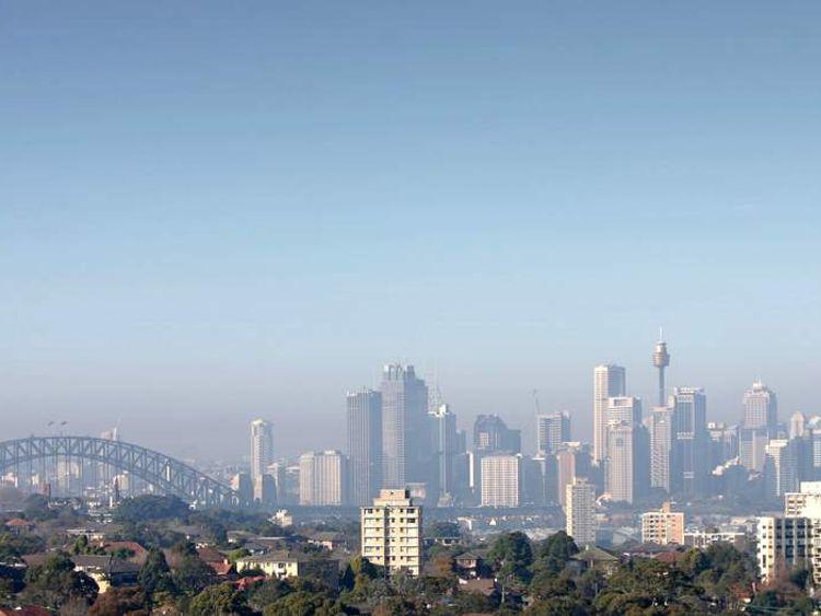 Pollution Envelops Sydney City