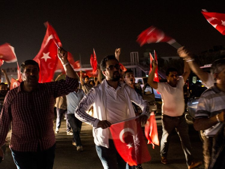 A coup attempt in Turkey
