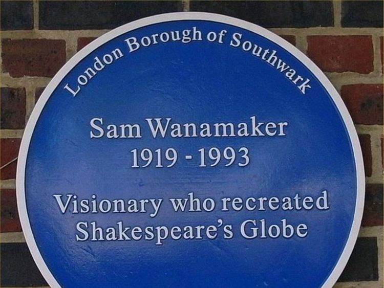 Sam Wanamaker plaque
