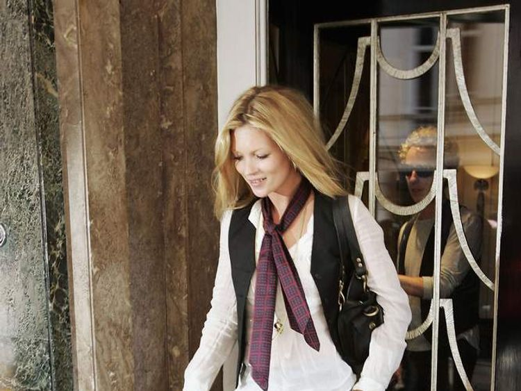 Model Kate Moss Leaves Claridges Hotel