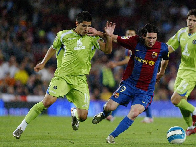 Lionel Messi playing for Barcelona against Getafe on May 26, 2007