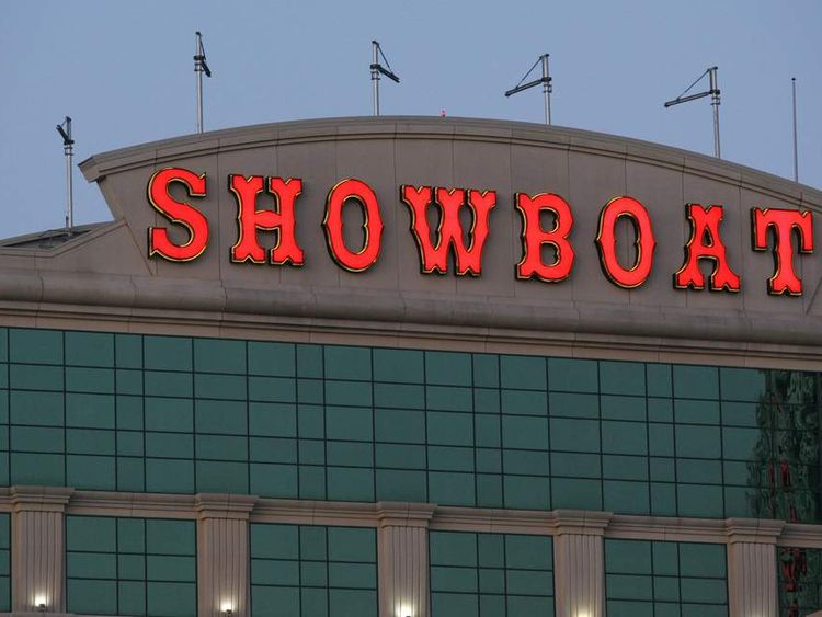 The Showboat hotel in Atlantic City, New