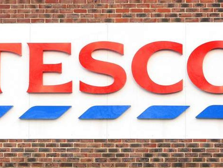 A Tesco supermarket is pictured in Epping, east of London