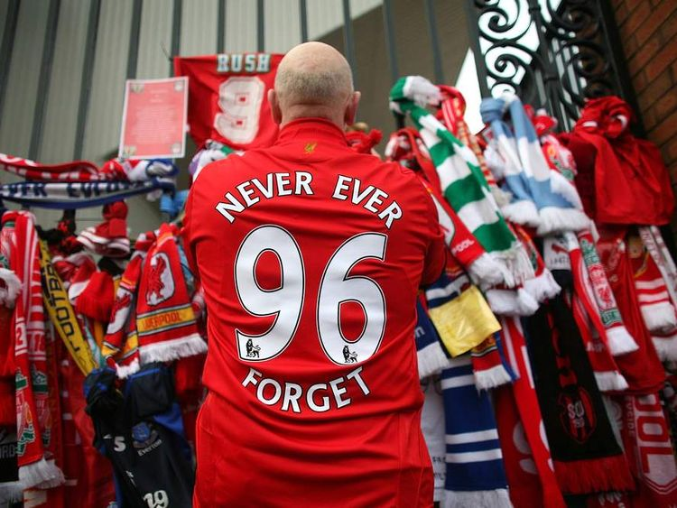 Liverpool Fans Pay Respects At Hillsborough Memorial At Anfield