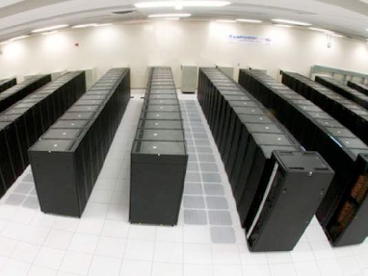 The supercomputer is nearly the size of 300 fridge-freezers