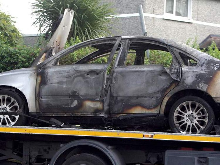 Alan Ryan shooting - a burnt-out car was found.