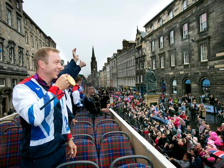 Chris Hoy Edinburgh bus