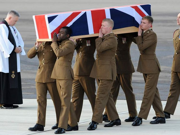 The repatriation ceremony at RAF Brize Norton of Corporal Channing Day