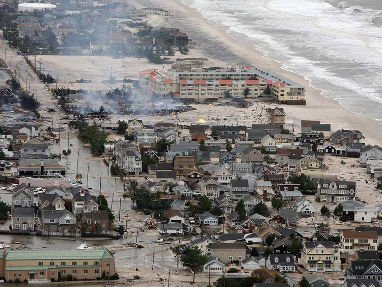 New Jersey Coastline Damaged After Superstorm Sandy