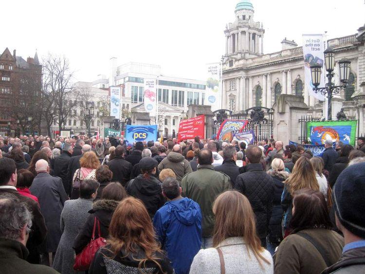 A vigil was held in Belfast for David Black