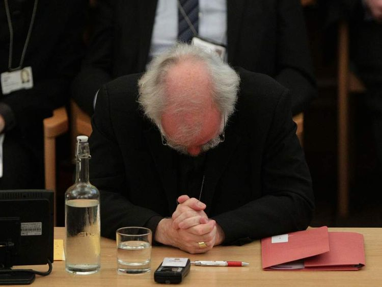 Dr Rowan Williams, the outgoing Archbishop of Canterbury, during a meeting of the General Synod of the Church of England