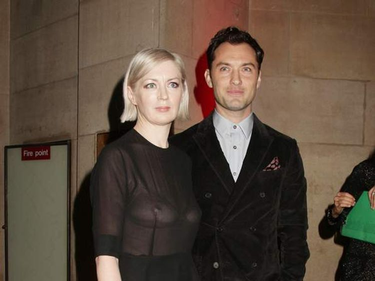 Jude Law with Elizabeth Price