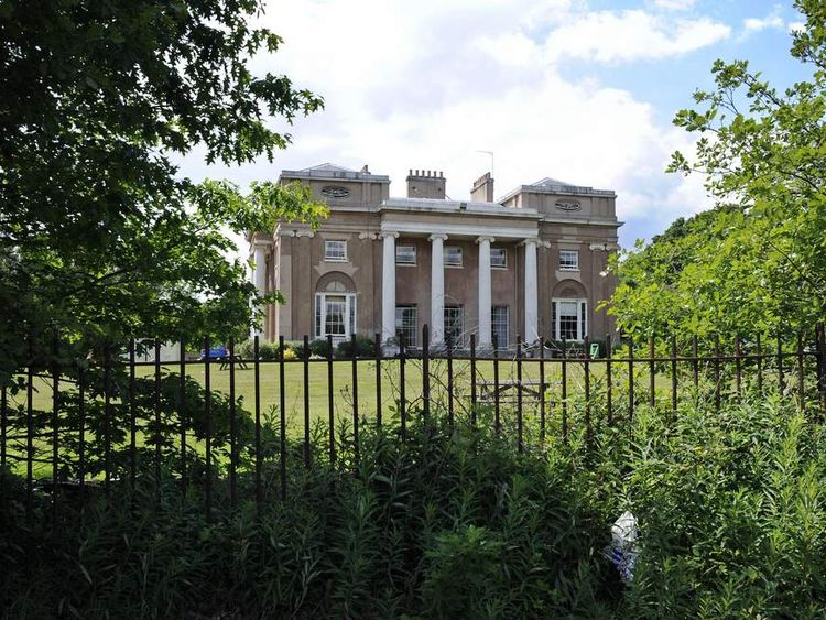 A general view of The Priory, a private clinic, is pictured, in north London