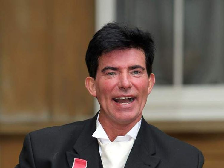 Eddie Kidd receives his OBE at Buckingham Palace