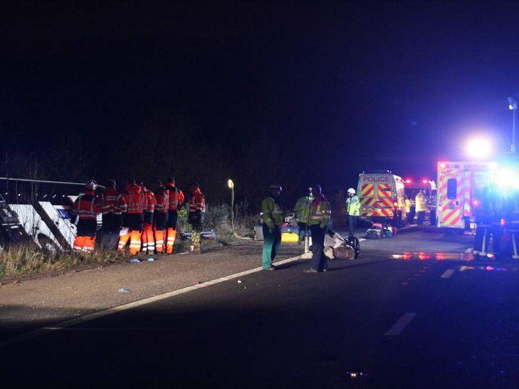 Coach crash on M3