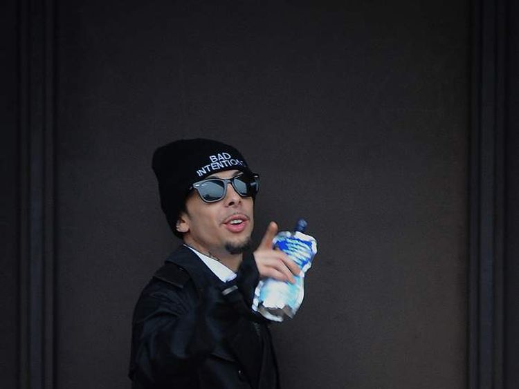 N-Dubz rapper Dappy outside Guildford Crown Court during his trial