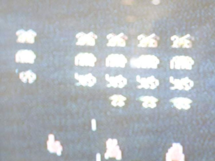 Space Invaders on Atari console