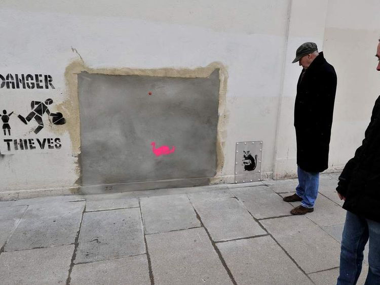 Banksy mural auction