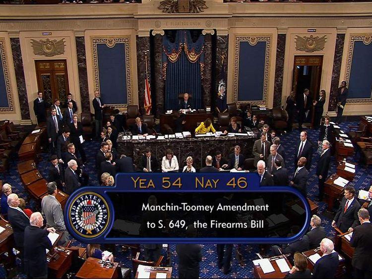 The US Senate casting its ballots