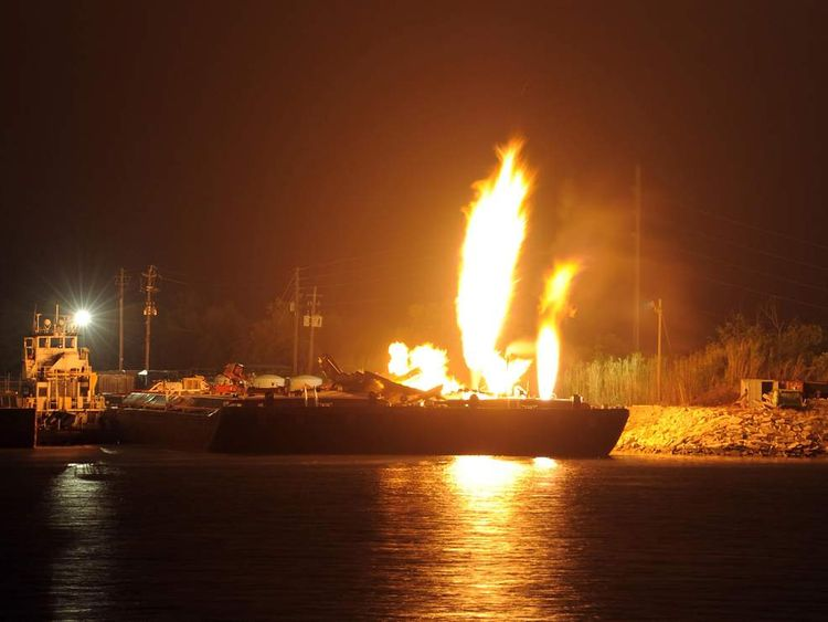 MOBILE RIVER EXPLOSIONS