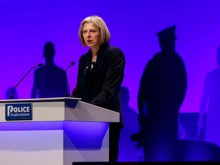 Theresa May speech Police Federation