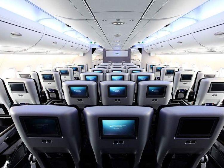 Interior of the new British Airways Airbus A380.