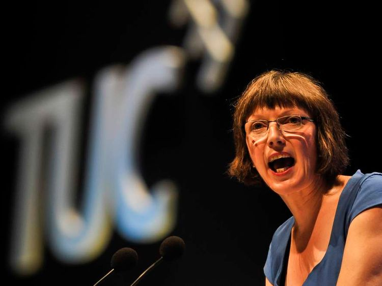 Frances O'Grady at the TUC conference