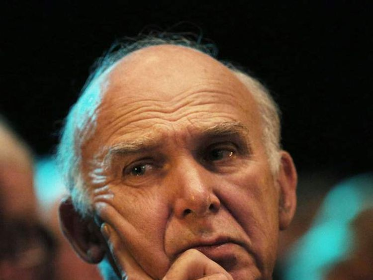 Vince Cable at the Lib Dem conference