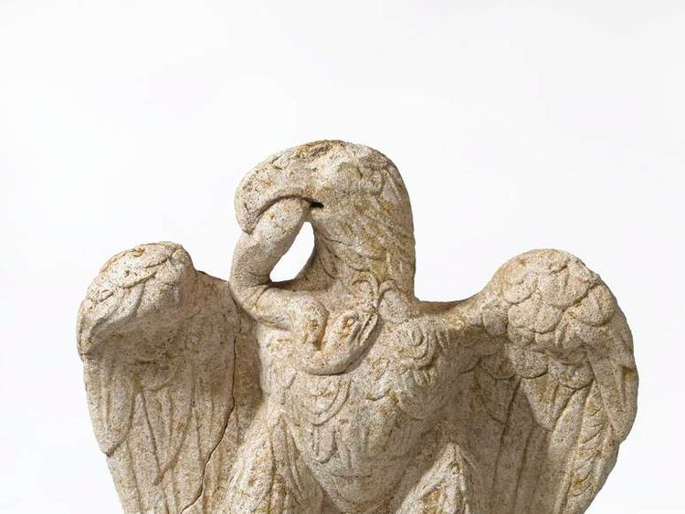 Minories eagle and serpent sculpture