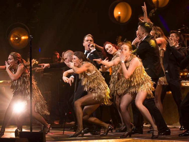 Robbie Williams at the London Palladium