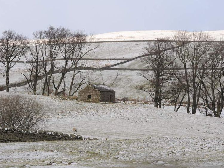 A dusting of snow over the Northern Pennines