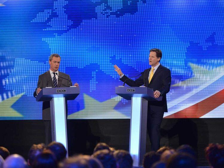 Clegg and Farage TV debate